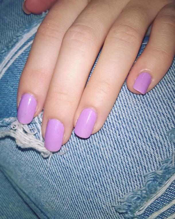 Rockin Purple Sally Hansen today! pinsandpolish lavender sallyhansen nailpolish jeanshellip