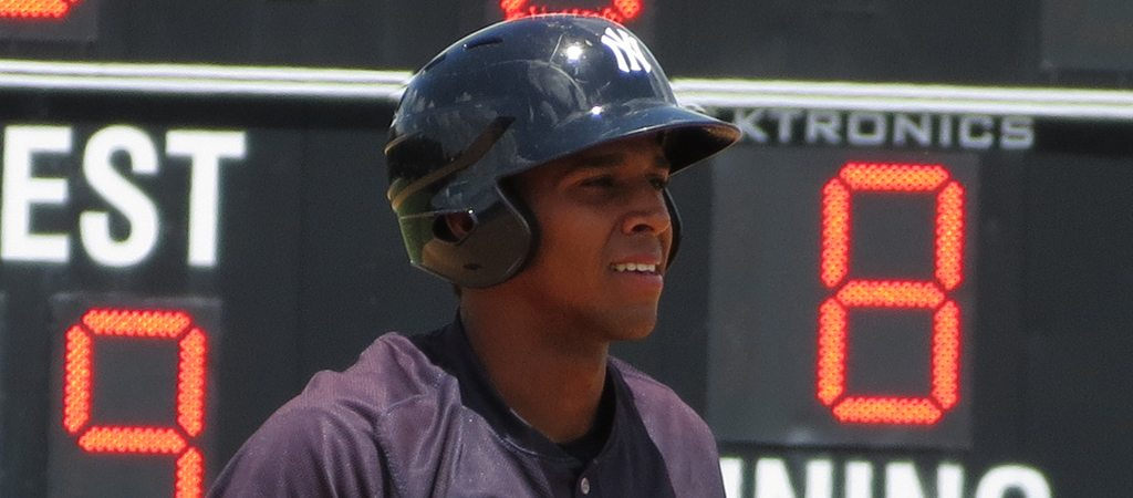 Frank Frias homered for the second straight Pulaski game Sunday night.  (Bryan Green)