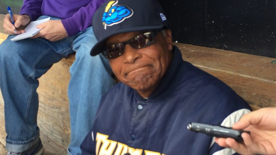 Tony Franklin as manager of the Trenton Thunder during the 2014 season (Rolling Thunder)