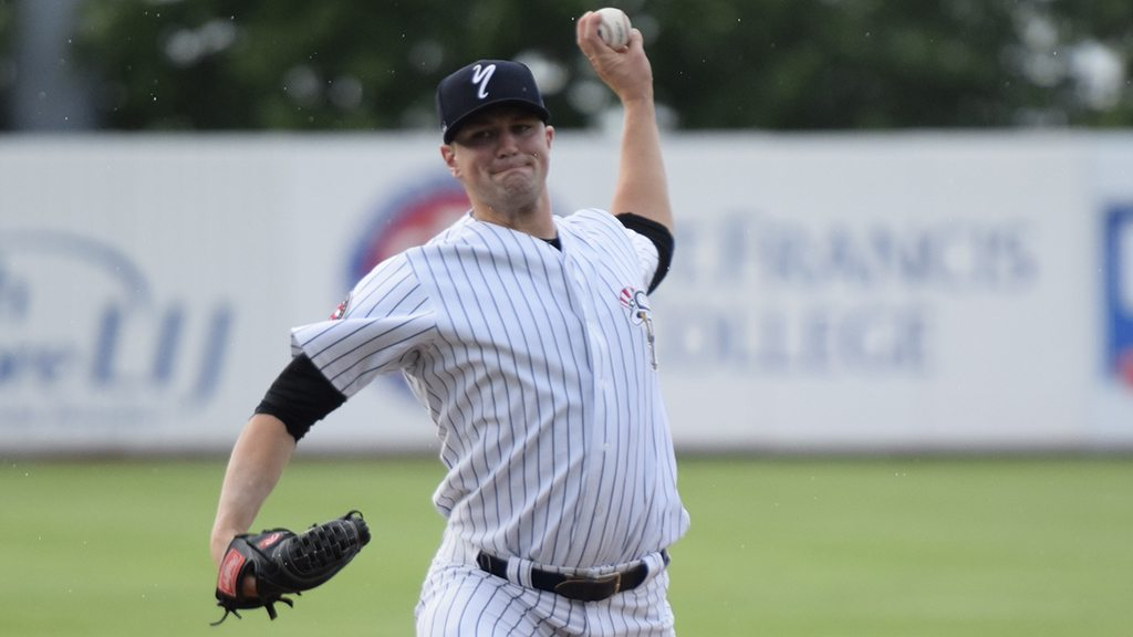 Derek Callahan pitched 6 solid innings for the win. (Robert M Pimpsner)