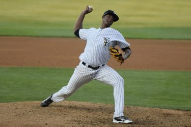 Yankees starter Domingo Acevedo continued his strong season going 6 innings in the game (Robert M Pimpsner)