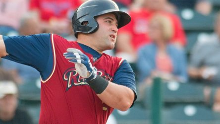 Kyle Roller hit his 14th home run in Friday night's RailRiders win.. (Cheryl Pursell)