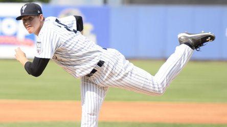 Yankees 2nd round pick Jeff Degano threw 3 scoreless innings. (Robert M Pimpsner)