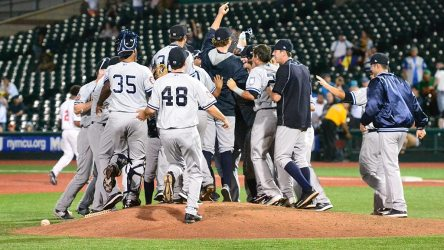 The Staten Island Yankees are playoff bound for the 10th time (Robert M Pimpsner)