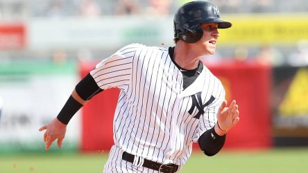 Ben Gamel has been optioned to the minors, he is likely heading to the RailRiders to start the season.  (© Mark LoMoglio/Yankees)
