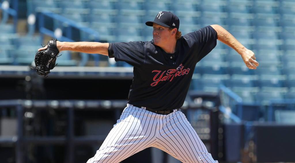 Caleb Frare (©Mark LoMoglio/Yankees)