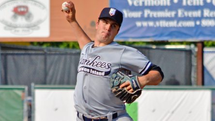 Austin DeCarr in his first start in 2016 (Vermont Lake Monsters)