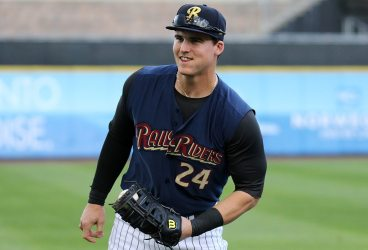 Scranton/Wilkes-Barre's   Tyler Austin was a triple away from a cycle Tuesday night. (Photo by Martin Griff)