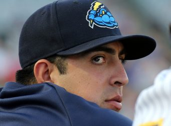 Trenton Thunder Pitcher  Dan Camarena Photo by Martin Griff)