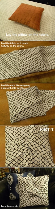 No-Sew Pillow Cover (1/6)