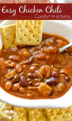 Small Of Easy Chicken Chili