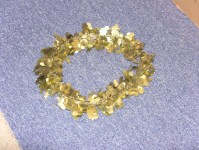 Golden Halo worn by EVE in The God Complex