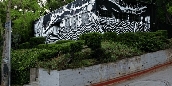 Thom Yorke's Atoms for Peace Album's Art Becomes Building-Covering Mural, Animated GIF