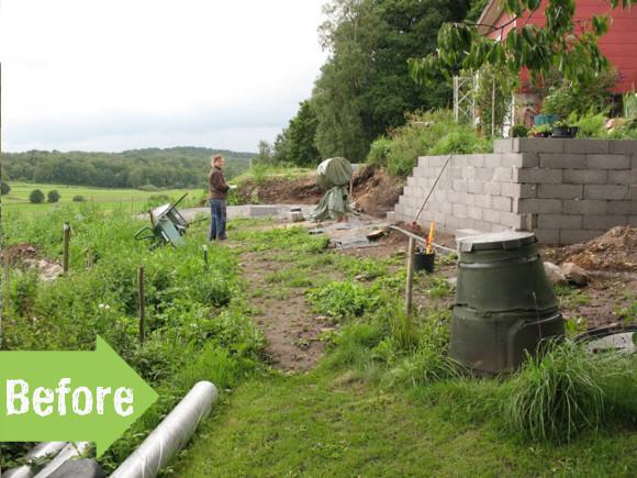 Before & After: Rebecca & Staffan's Terraced Garden