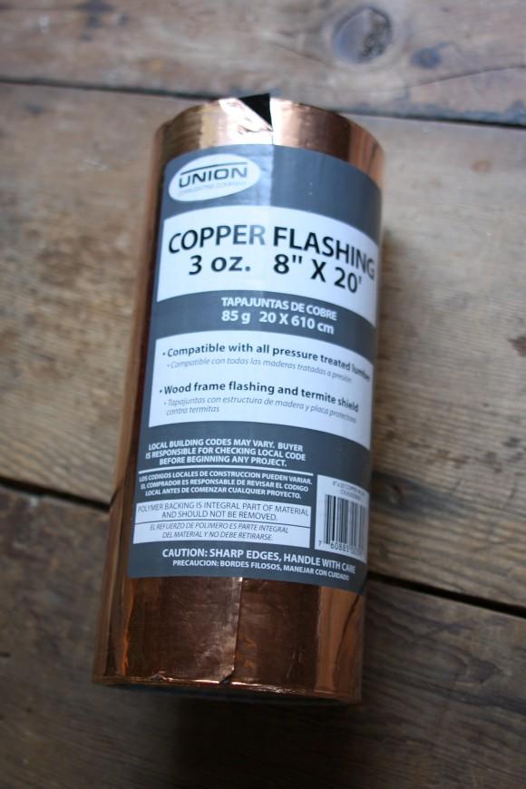 DIY: Copper Flashing Slug Control