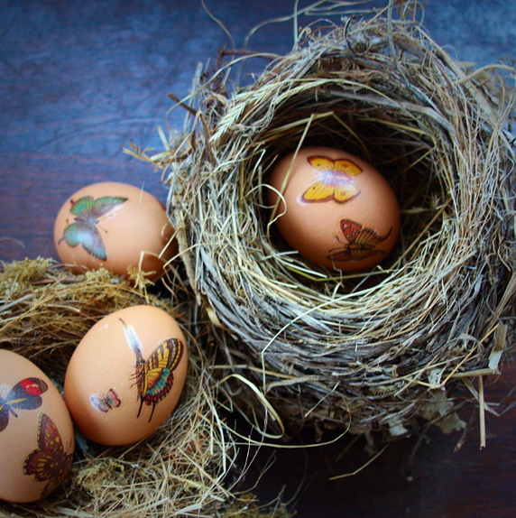 Easy Earthy Easter Eggs