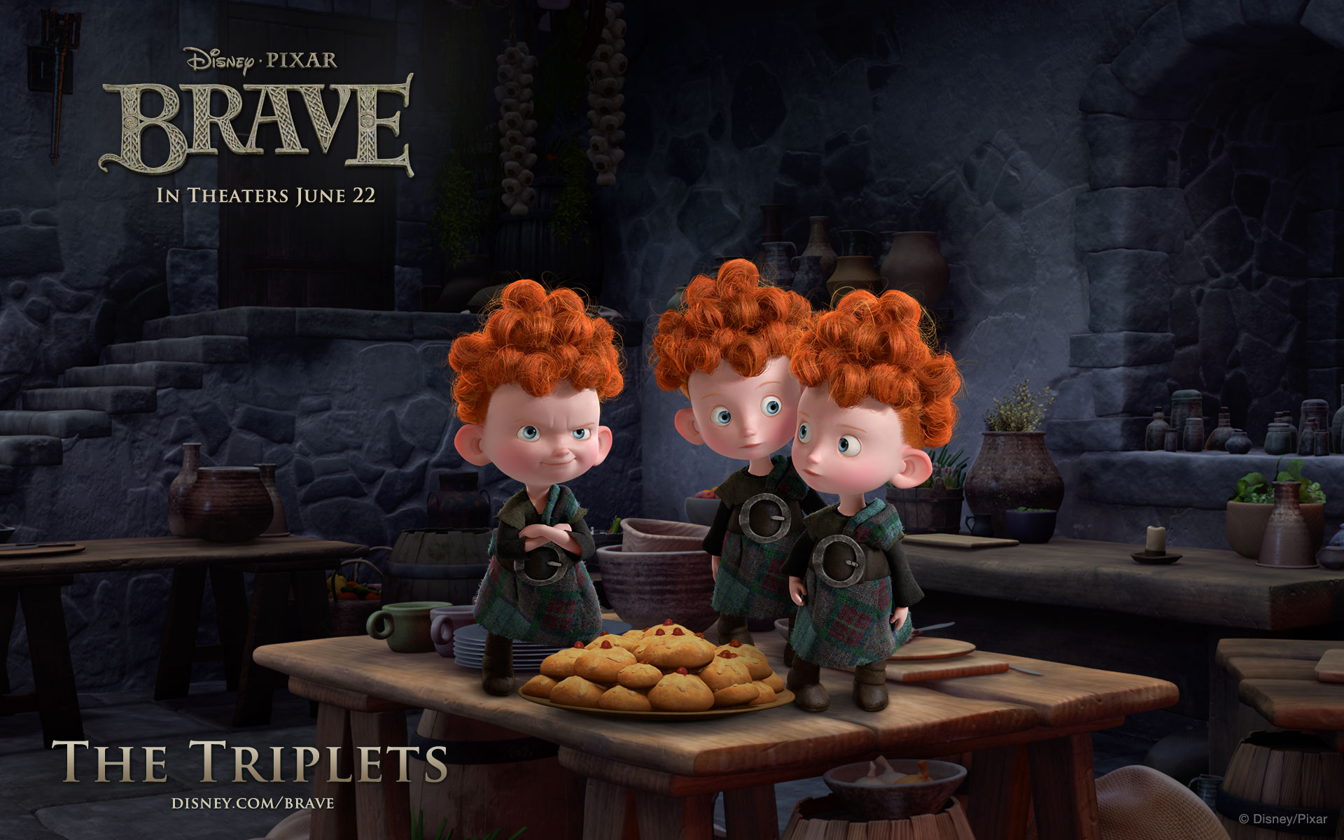 Brave Triplets Wallpaper Pixars Brave   DouBle Bs Full Review
