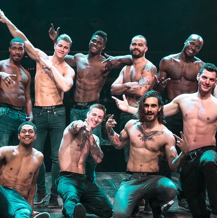 Review  Magic Mike Live in Las Vegas The female emcee of Magic Mike Live  Las Vegas wears a BeDazzled blazer   tight leather pants  and sturdy high heeled boots