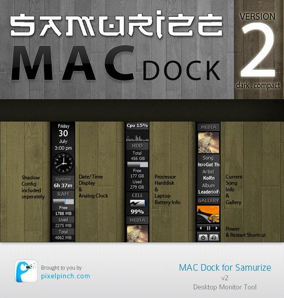 Samurize Mac Dock v2 Skin