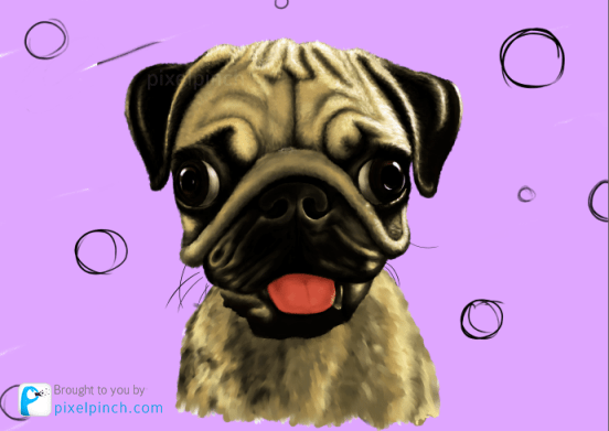 Step 15 Digital Art Dog Pug PixelPinch