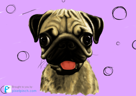 Step 17 Digital Art Dog Pug PixelPinch