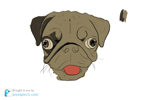 Step 3 Digital Art Dog Pug PixelPinch Digital Coloring Tutorial using Corel Painter & Tablet
