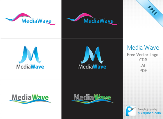 Media Wave Vector Logo Pack