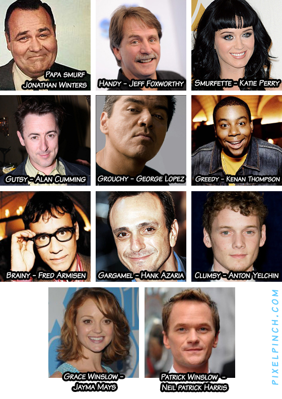 The Smurfs Movie All Cast