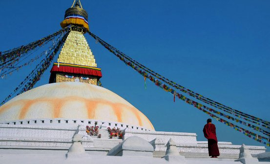 Boudha Stupa solitude by fuzzyzebra d36bocs 7 UNESCO Listed Heritage Sites of Nepal (within Kathmandu Valley)