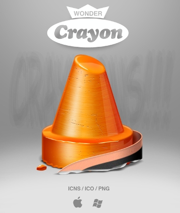 crayon icon by ncrow d4dr0wp Fresh & Best Icon Collection Of The Month October #3