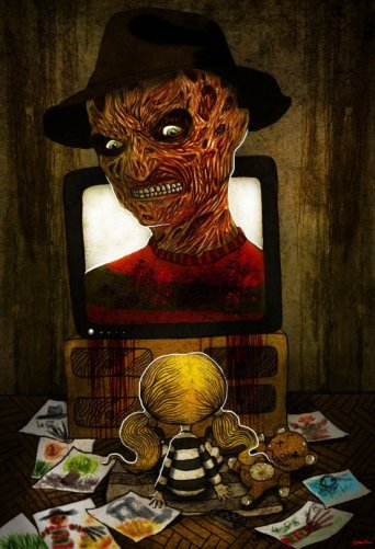 freddy is coming for you by berkozturk d3bw6kp 20 Fresh, Best & Scary Halloween Artworks Of Year 2011