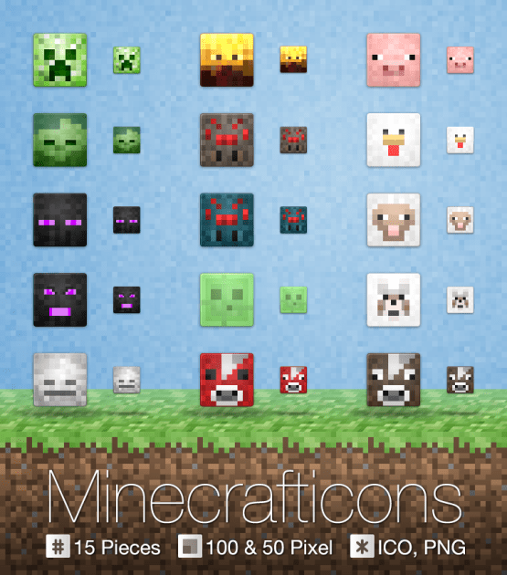 minecrafticons by arcance d4h3ve6 Fresh & Best Icon Collection Of The Month November #4