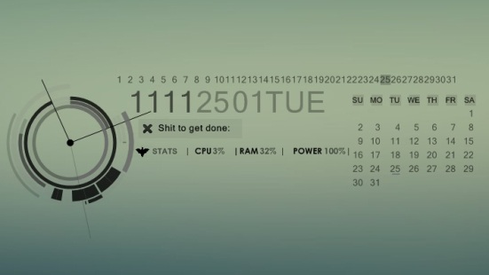 sinister v 2 0 for rainmeter by natosaurus Best date, time and calendar Rainmeter skins / themes