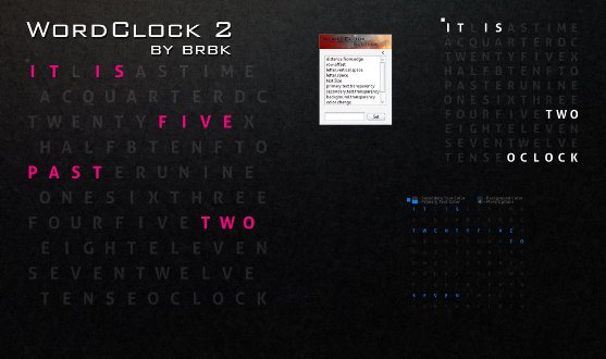 wordclock2 by brbk Best date, time and calendar Rainmeter skins / themes