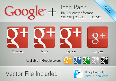 New Red Google Plus or Page Vector Icon Pack 10 Most Wanted Articles Of PixelPinch   100 Articles Milestone