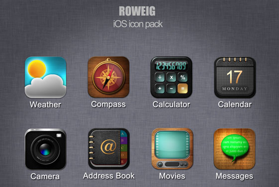 ios icon pack by roweig d4xunll Fresh & Best Icon Collection Of The Month May#5