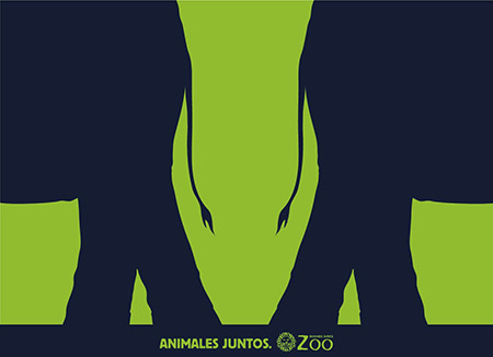 Animals Together Zoo Ad Case Study: How To Use The Negative Space