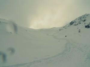 Tuż przed przełęcząpod KondrackąKopą
