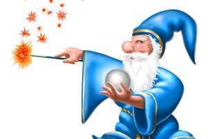 wizard su bianco