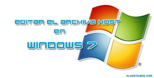 Editar el archivo host en Windows7