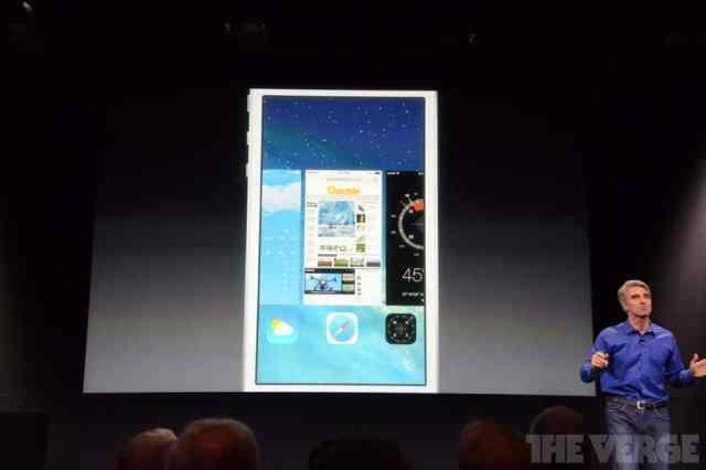 Nos presentarón la gestión de la multitarea de iOS 7