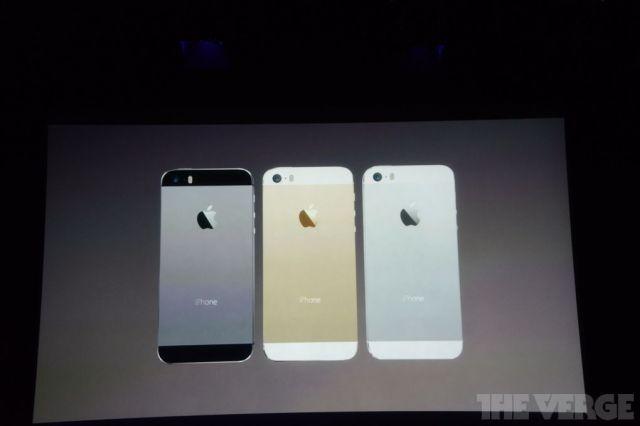 Colores disponibles del iPhone 5S
