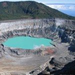 The crater of the volcano Poás in Costa