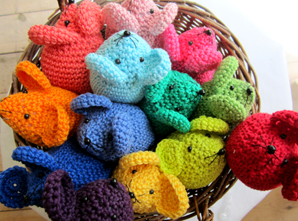 crochet mice using the Planet Penny Cotton pack
