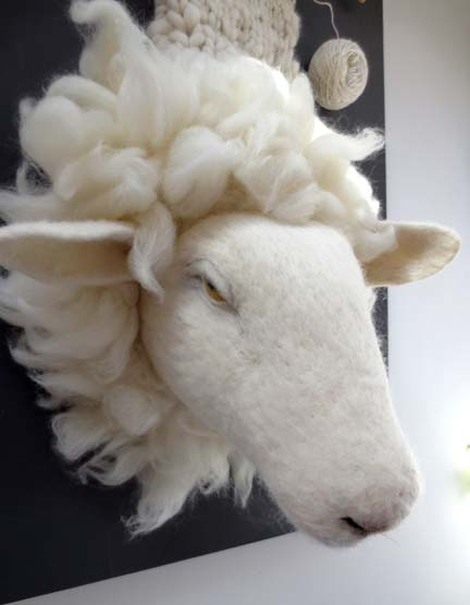 needlefelt sheep for Taster Exhibition NNOS 2013