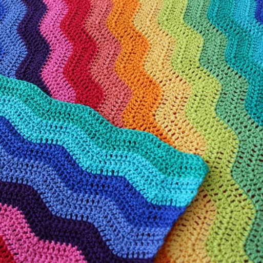 Attic 24 pattern - Planet Penny Cotton - Ripple Blanket