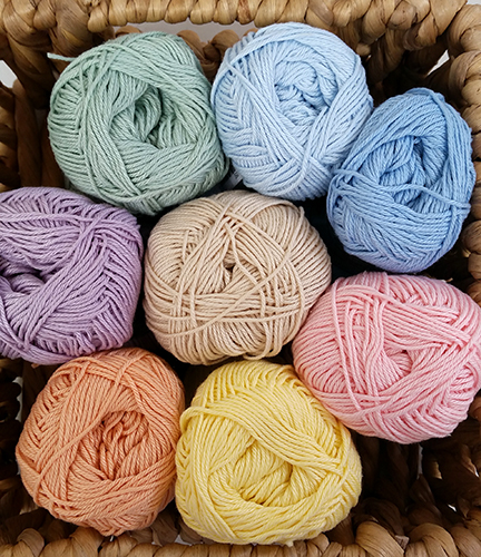 Plant Penny Cotton Colours pastel yarn