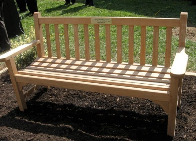 This bench to honor the memory of EMT Michael Kenwood was stolen this week.