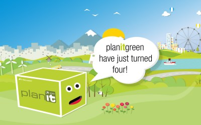 planitgreen celebrates it's 4th birthday by giving back even more!