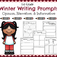 First Grade Writing Prompts for Winter